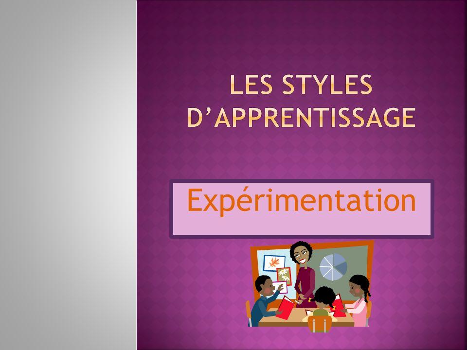 Les styles d'apprentissage