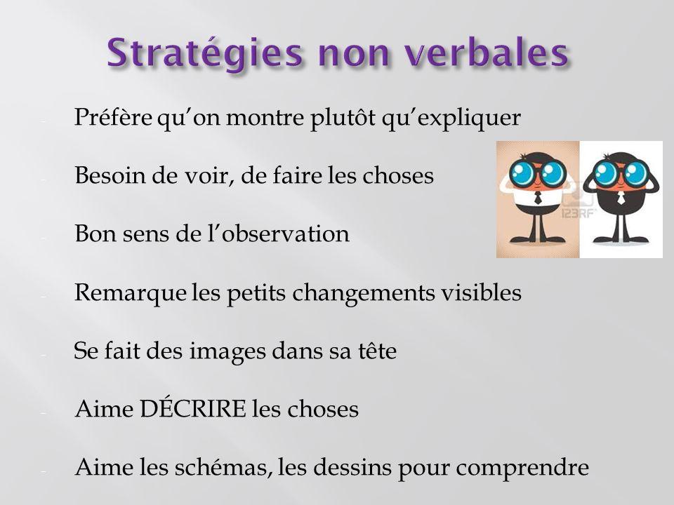 Stratégies non verbales