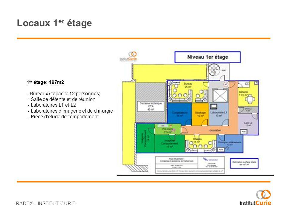 Locaux 1er étage 1er étage: 197m2 - Bureaux (capacité 12 personnes)