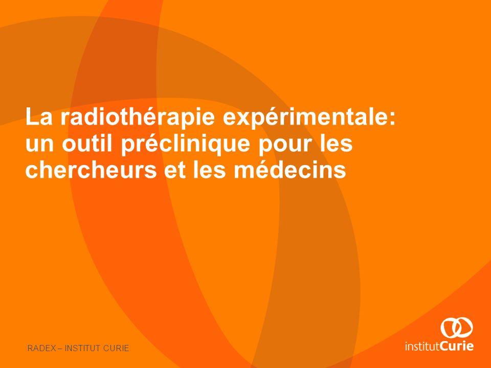 La radiothérapie expérimentale: un outil préclinique pour les chercheurs et les médecins