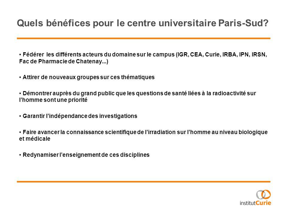 Quels bénéfices pour le centre universitaire Paris-Sud