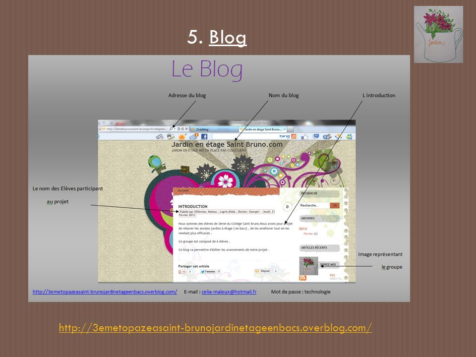 5. Blog http://3emetopazeasaint-brunojardinetageenbacs.overblog.com/