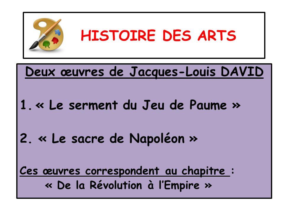 Deux œuvres de Jacques-Louis DAVID