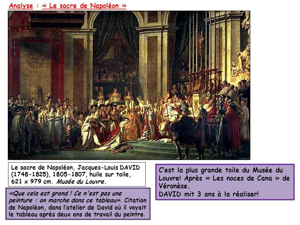 Analyse : « Le sacre de Napoléon »