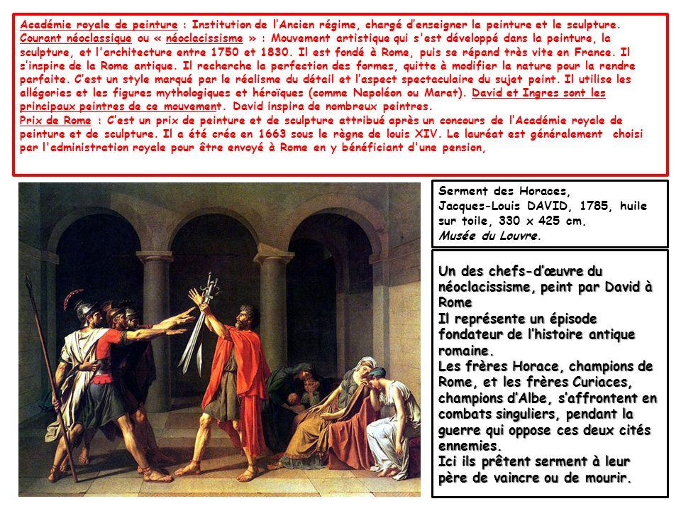 Un des chefs-d'œuvre du néoclacissisme, peint par David à Rome