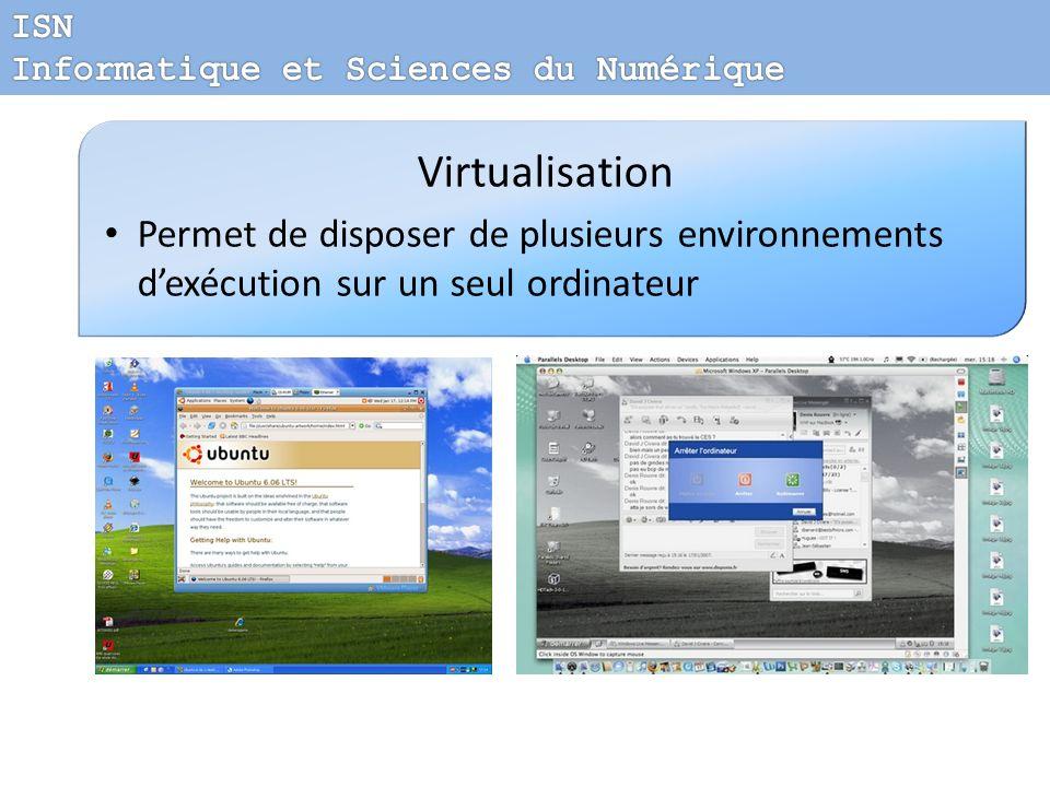 ISN Informatique et Sciences du Numérique. Virtualisation.