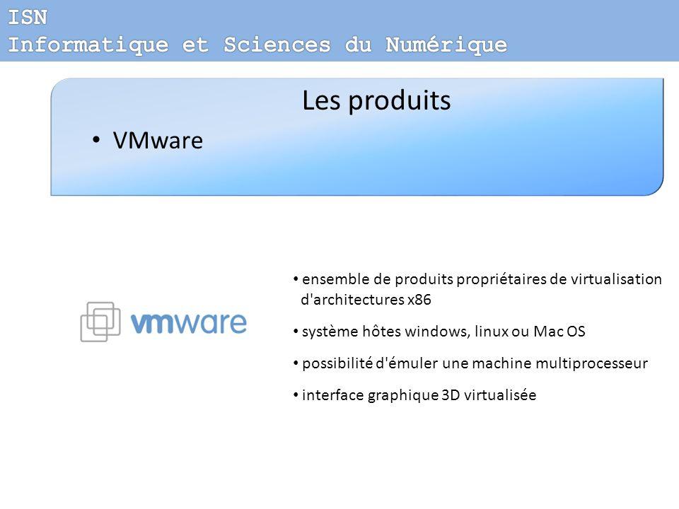 Les produits VMware ISN Informatique et Sciences du Numérique