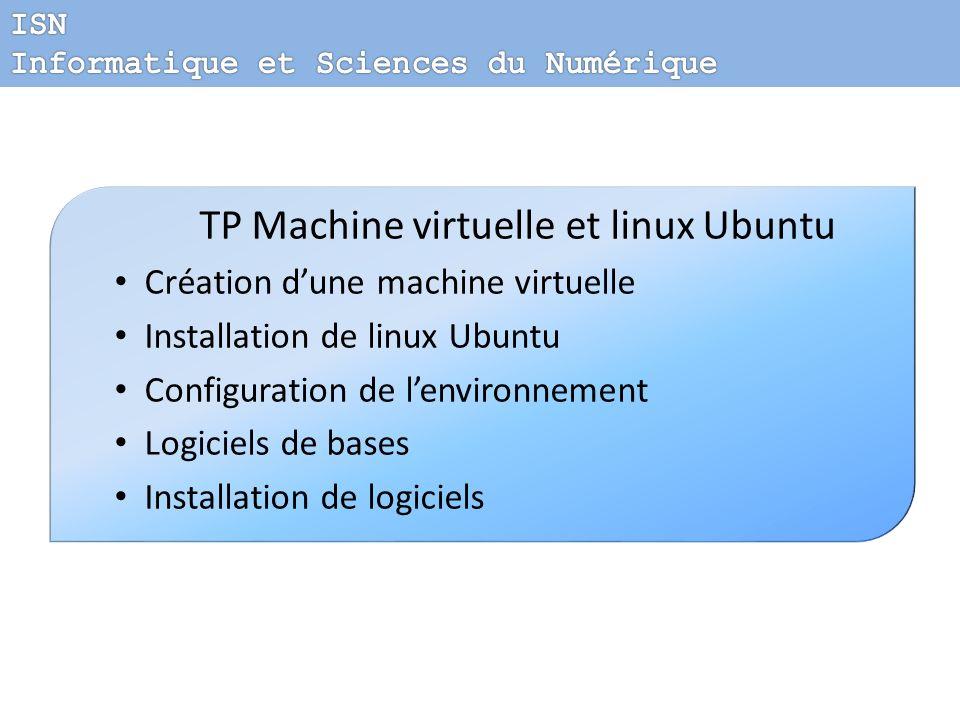 TP Machine virtuelle et linux Ubuntu