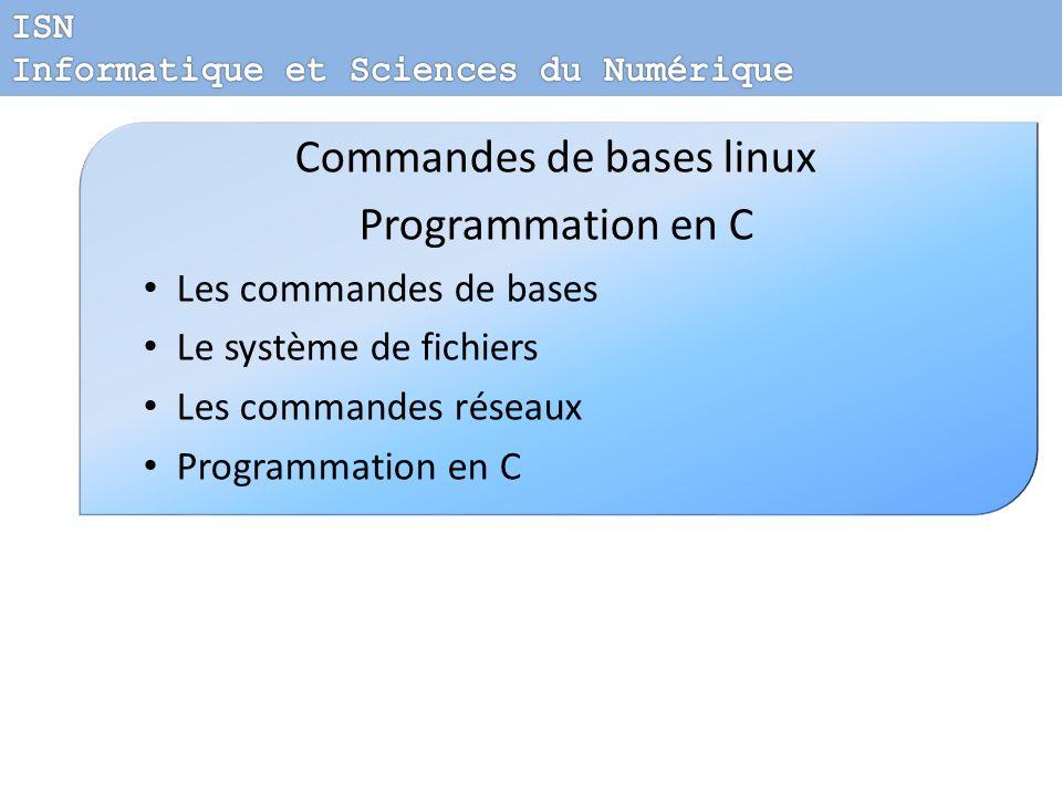 Commandes de bases linux