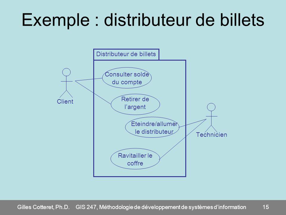 Exemple : distributeur de billets