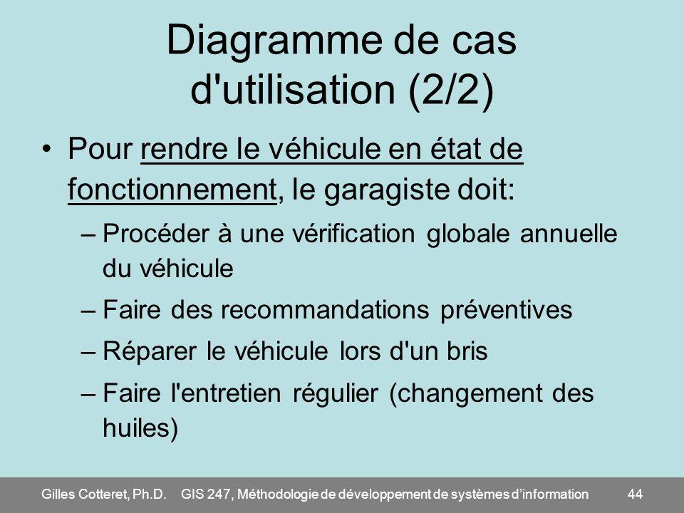 Diagramme de cas d utilisation (2/2)