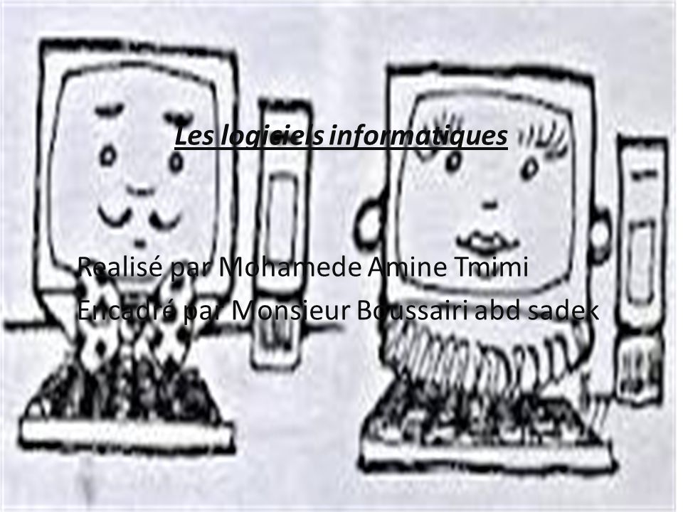 Les logiciels informatiques