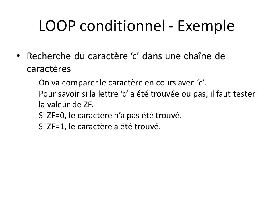 LOOP conditionnel - Exemple