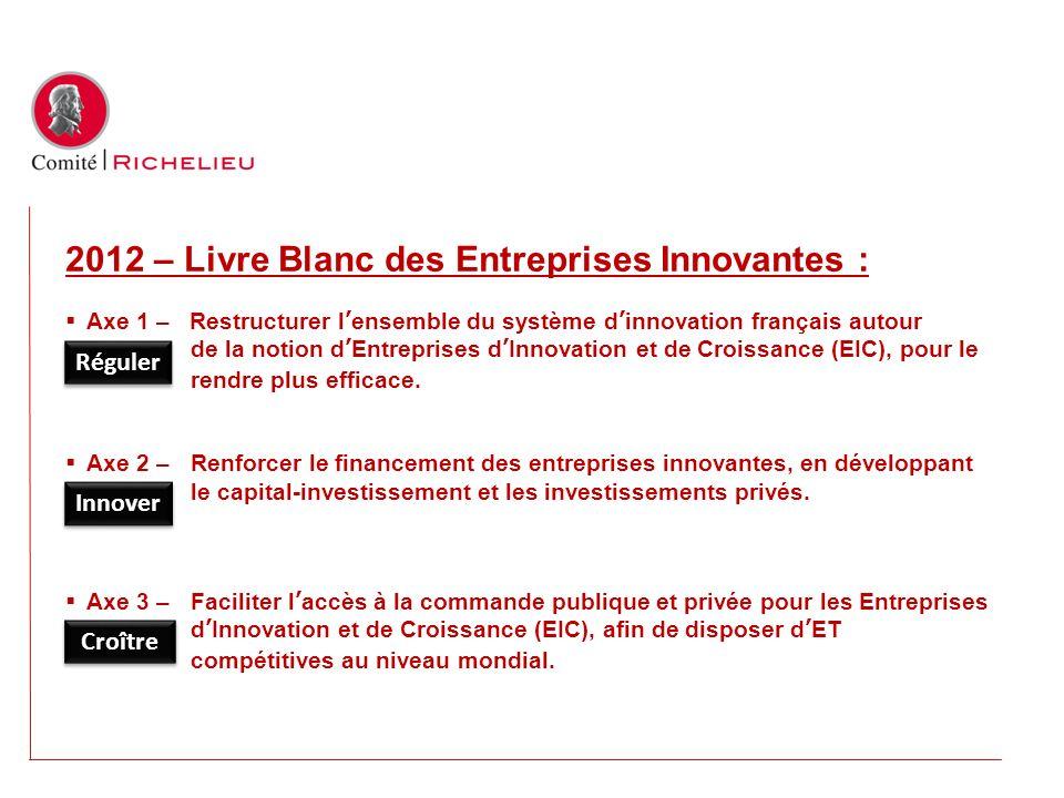 2012 – Livre Blanc des Entreprises Innovantes :
