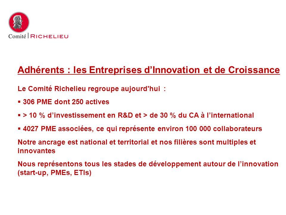 Adhérents : les Entreprises d'Innovation et de Croissance