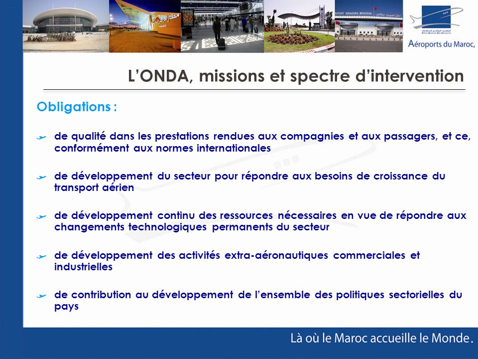 L'ONDA, missions et spectre d'intervention
