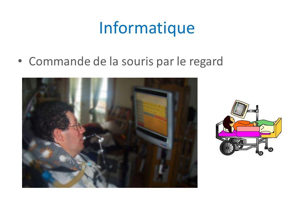 Informatique Commande de la souris par le regard