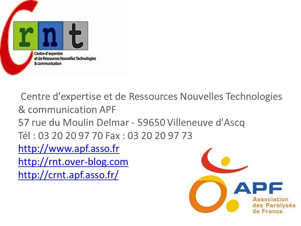 Centre d expertise et de Ressources Nouvelles Technologies & communication APF