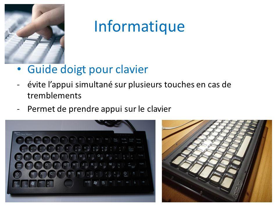Informatique Guide doigt pour clavier