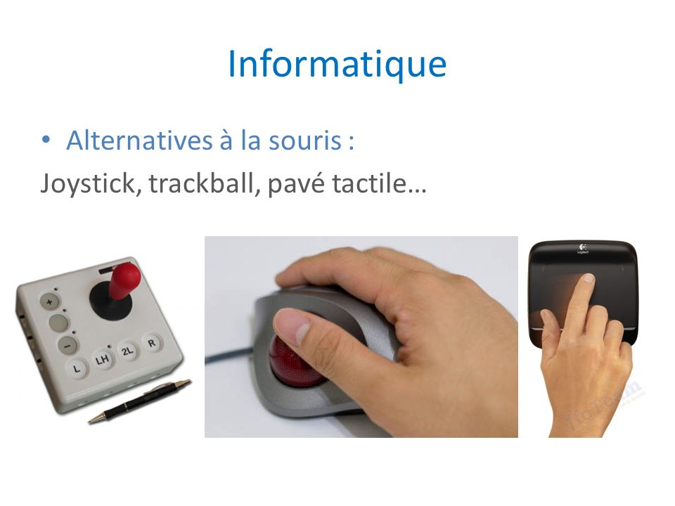 Informatique Alternatives à la souris :