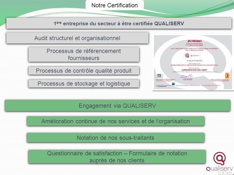 1ère entreprise du secteur à être certifiée QUALISERV