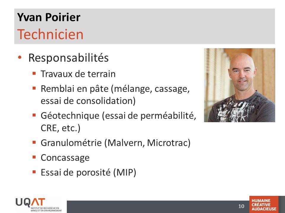 Yvan Poirier Technicien