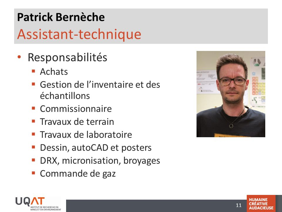 Patrick Bernèche Assistant-technique