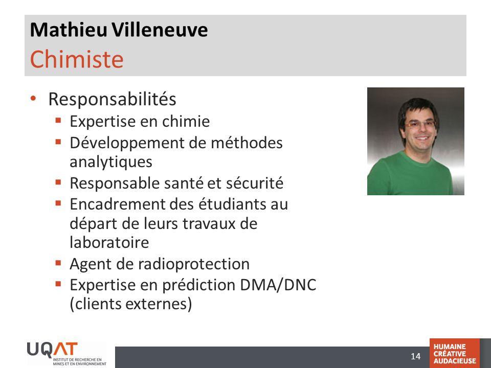 Mathieu Villeneuve Chimiste