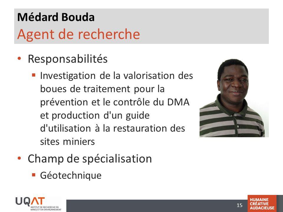 Médard Bouda Agent de recherche