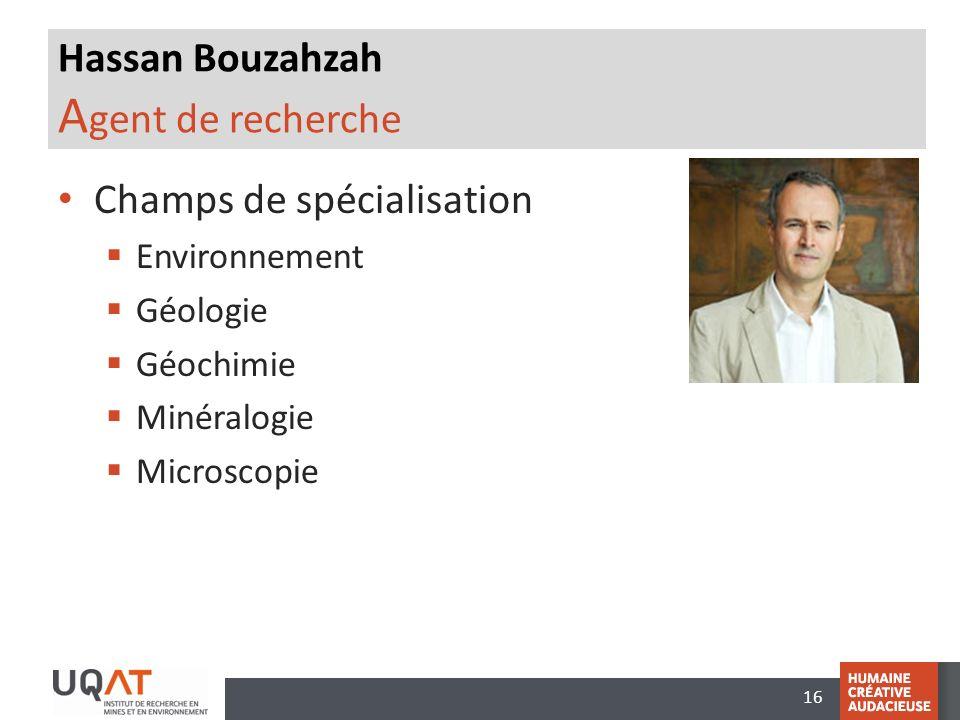 Hassan Bouzahzah Agent de recherche