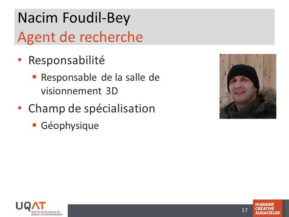 Nacim Foudil-Bey Agent de recherche