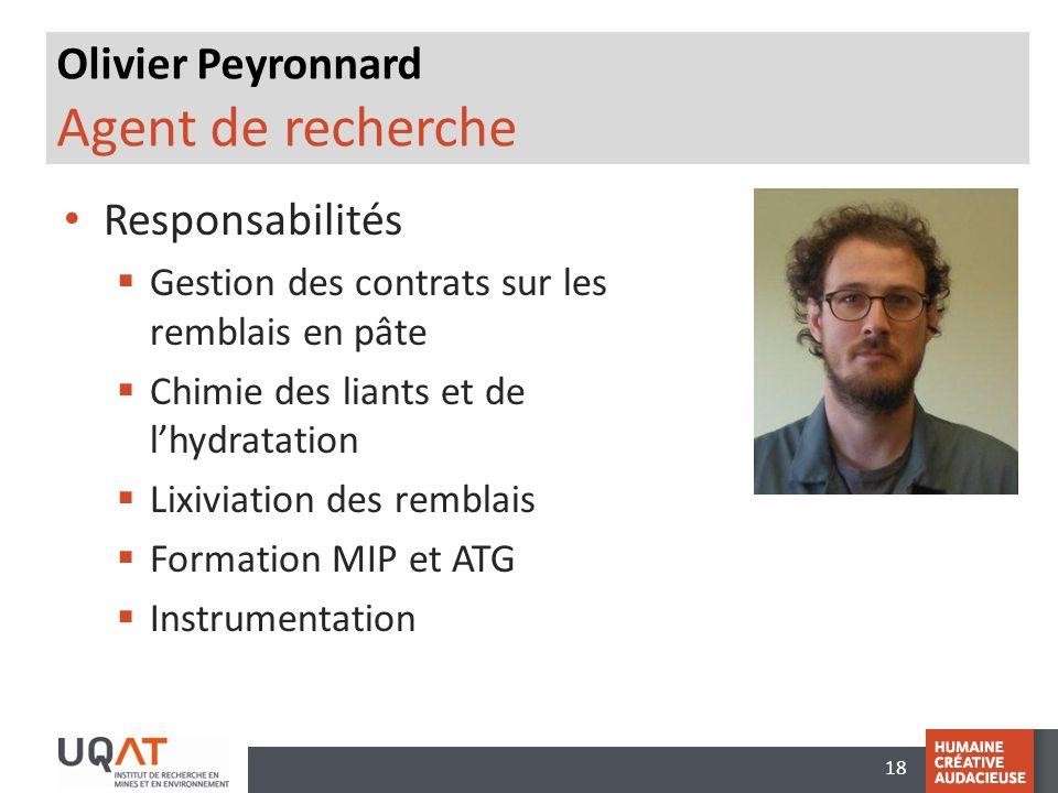 Olivier Peyronnard Agent de recherche
