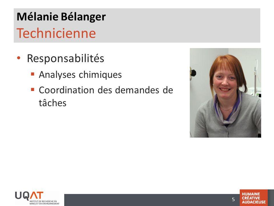 Mélanie Bélanger Technicienne