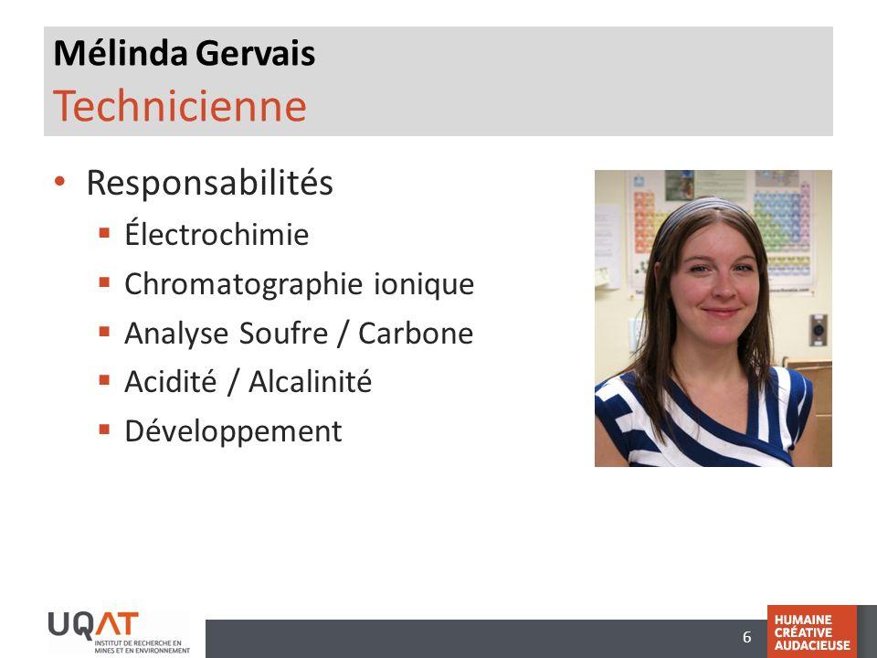 Mélinda Gervais Technicienne