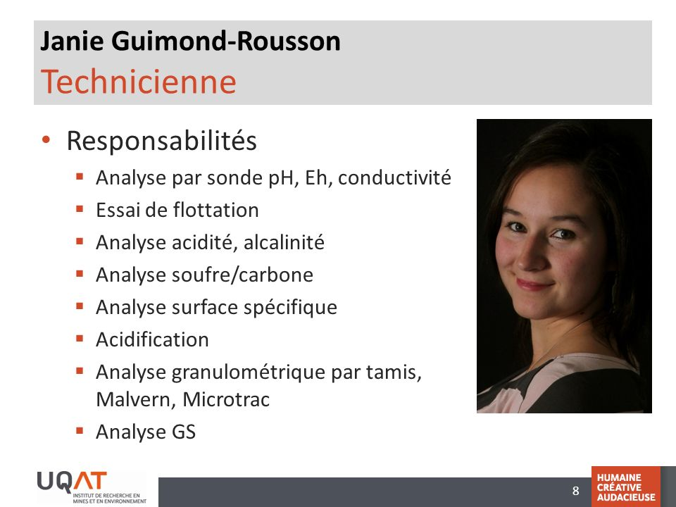 Janie Guimond-Rousson Technicienne
