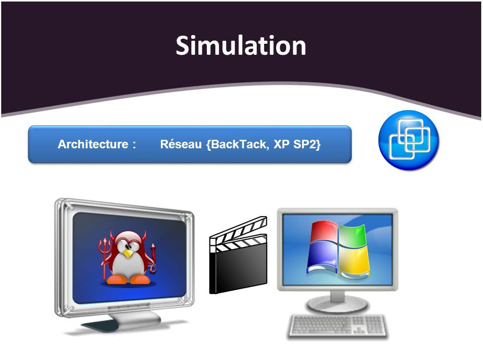 Architecture : Réseau {BackTack, XP SP2}