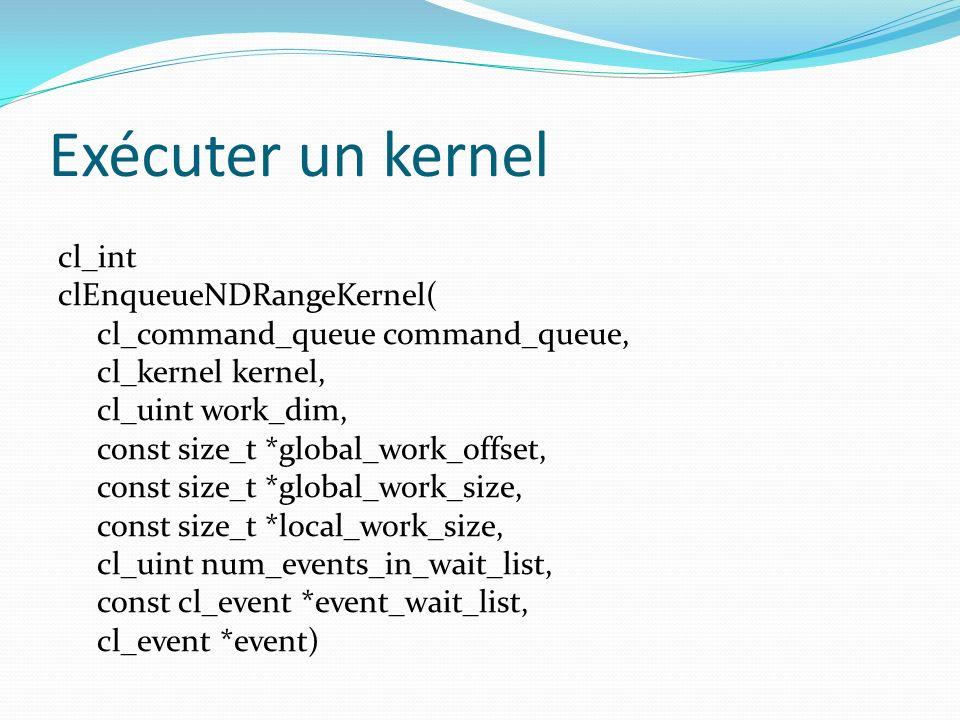 Exécuter un kernel