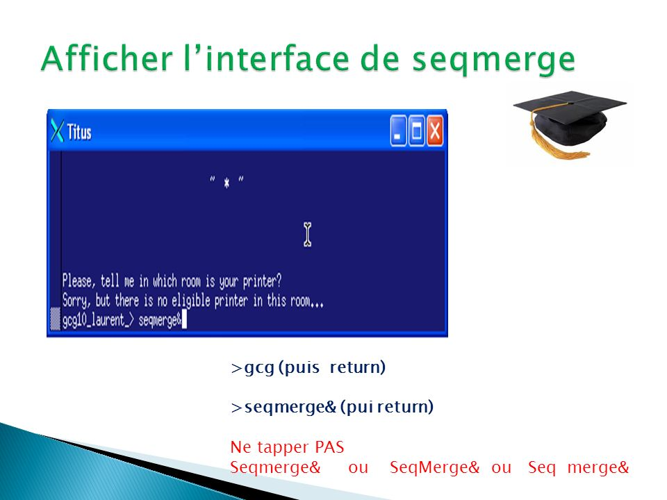 Afficher l'interface de seqmerge