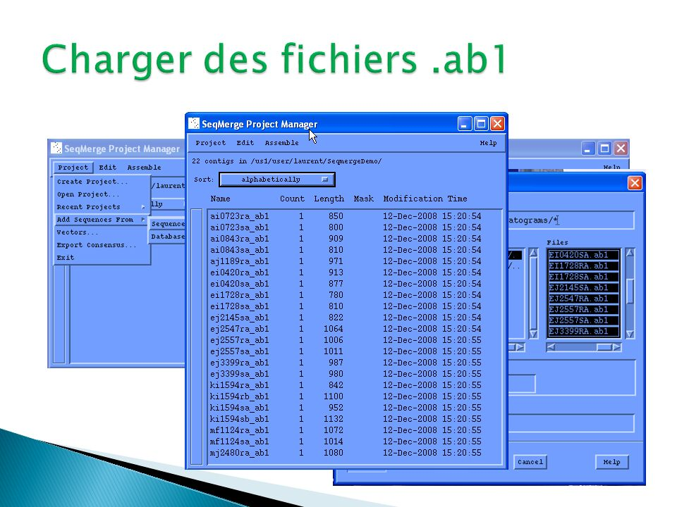 Charger des fichiers .ab1