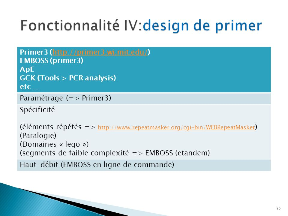Fonctionnalité IV:design de primer