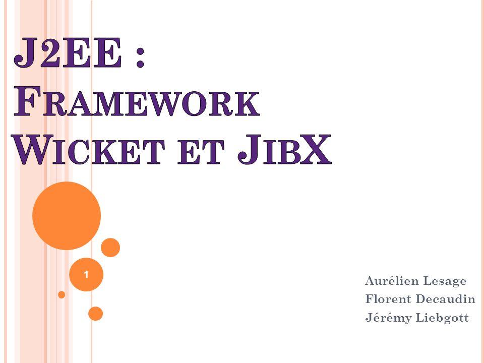 J2EE : Framework Wicket et JibX