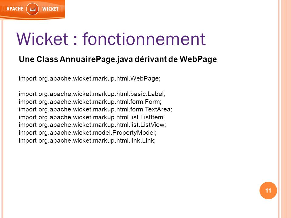 Wicket : fonctionnement