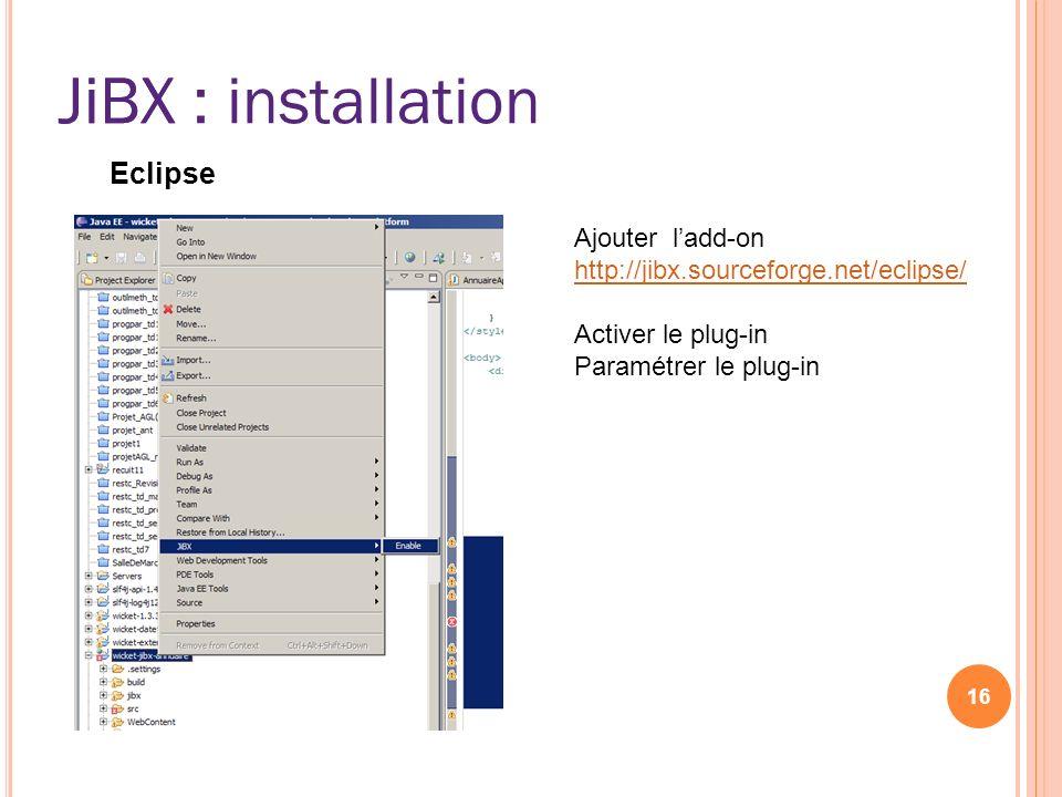 JiBX : installation JiBX Eclipse