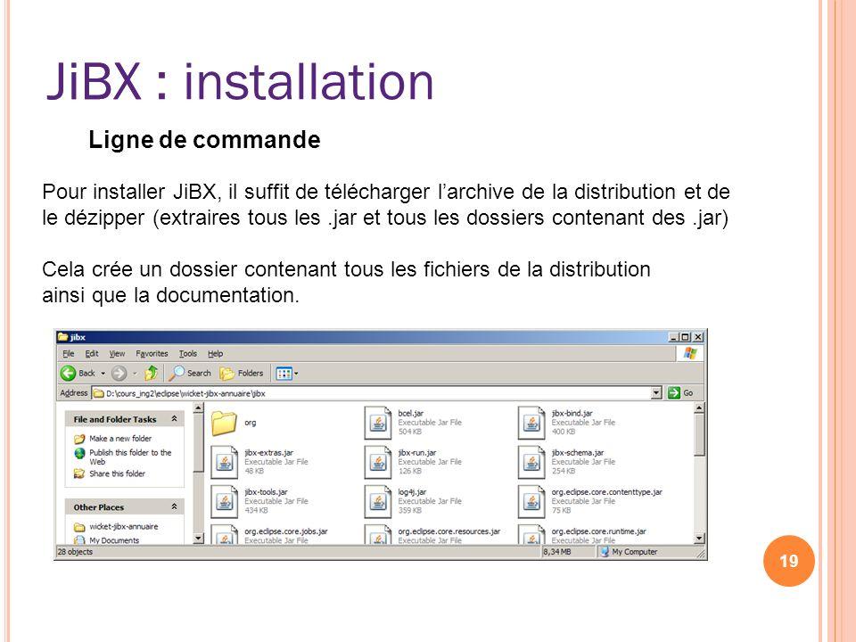 JiBX : installation JiBX Ligne de commande