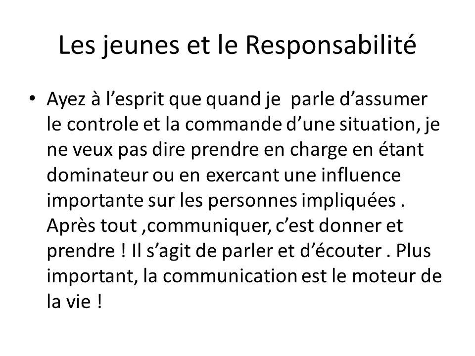 Les jeunes et le Responsabilité