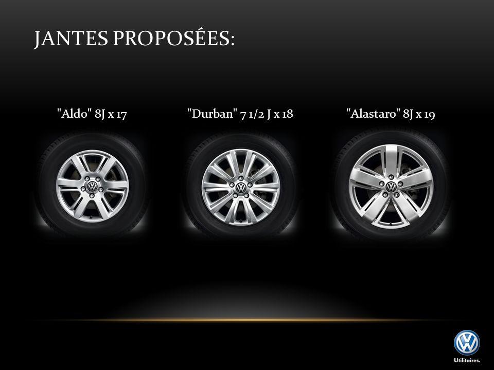 Jantes proposées: Aldo 8J x 17 Durban 7 1/2 J x 18