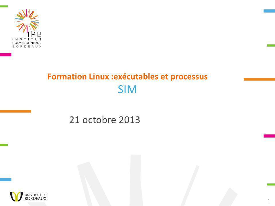 Formation Linux :exécutables et processus