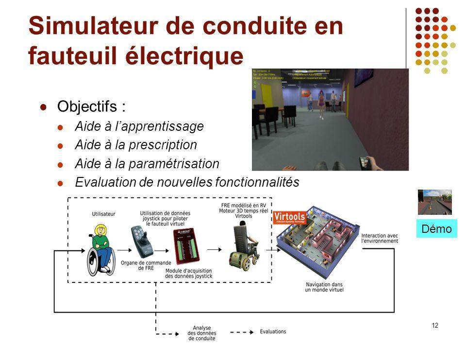 Simulateur de conduite en fauteuil électrique
