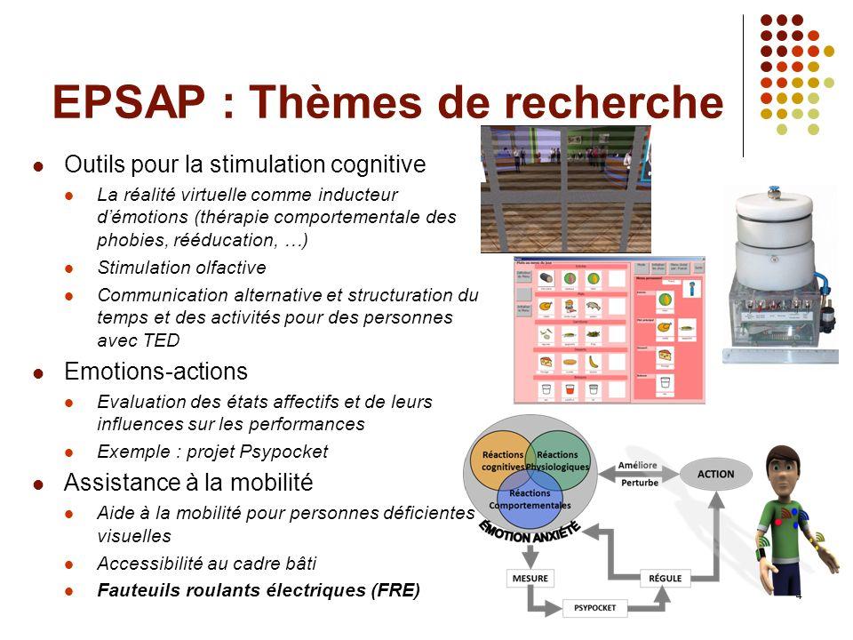 EPSAP : Thèmes de recherche