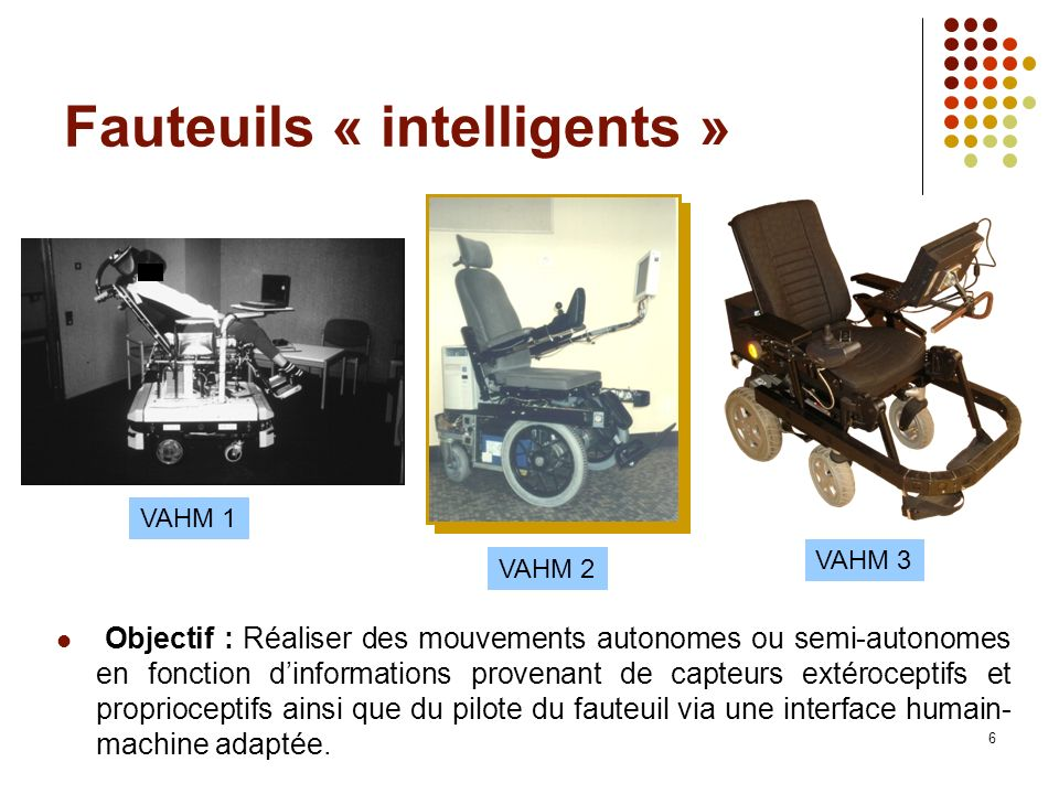 Fauteuils « intelligents »